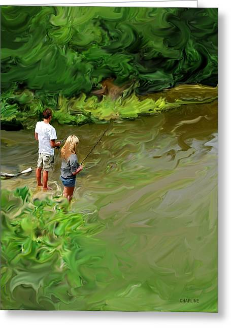Fishing Creek Digital Greeting Cards - Cypress Creek Greeting Card by Curtis Chapline