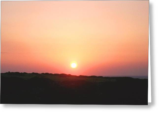 Sweating Photographs Greeting Cards - Cypriotic sunset Greeting Card by Hilde Widerberg