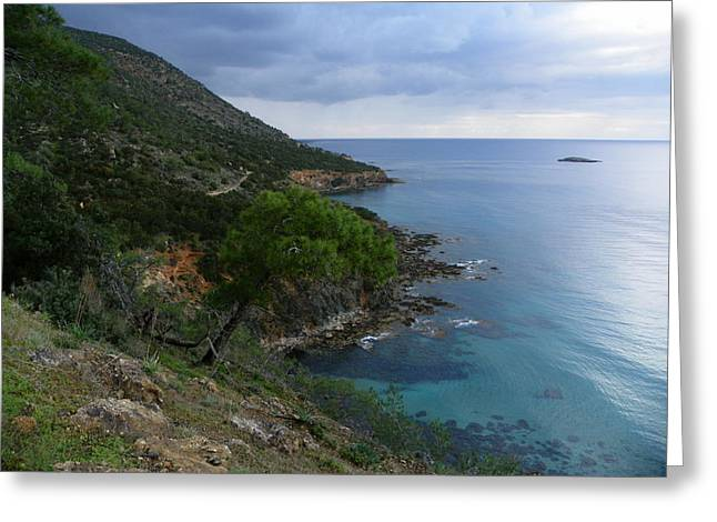Noreen Hacohen Greeting Cards - Cyprus Coastline Greeting Card by Noreen HaCohen