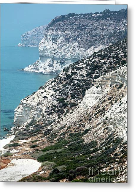 Cypriotic Greeting Cards - Cyprus View Greeting Card by John Rizzuto