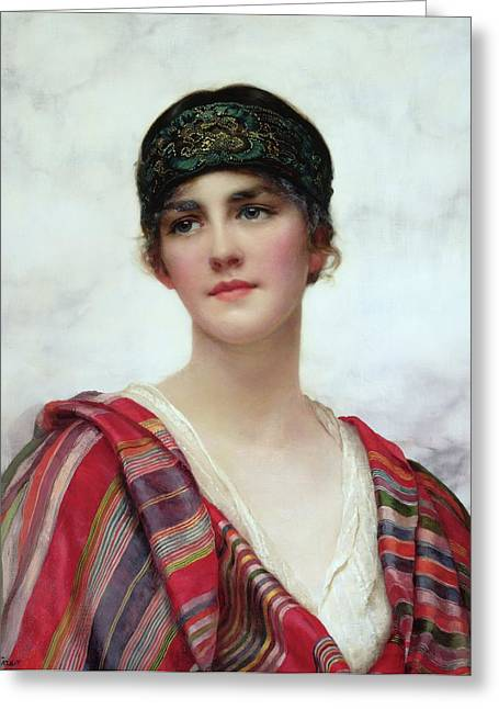 Reverie Paintings Greeting Cards - Cyrene Greeting Card by William Clark Wontner