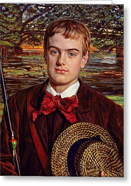 Picture Frame Greeting Cards - Cyril Benoni Holman Hunt, 1880 Greeting Card by William Holman Hunt