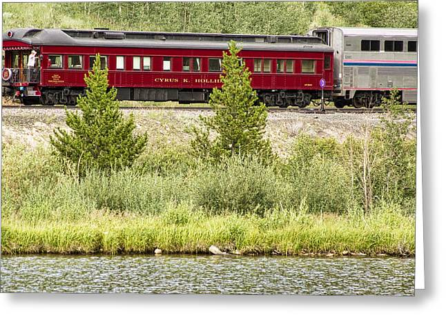 Old Caboose Greeting Cards - Cyrus K  Holliday Private Rail Car Greeting Card by James BO  Insogna