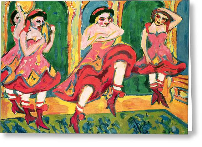Hungarian Greeting Cards - Czardas Dancers, 1908-20 Greeting Card by Ernst Ludwig Kirchner