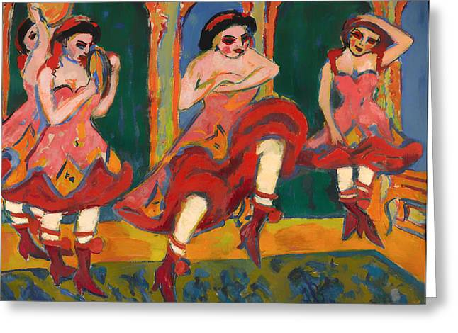Festivities Greeting Cards - Czardas Dancers Greeting Card by Ernst Kirchner