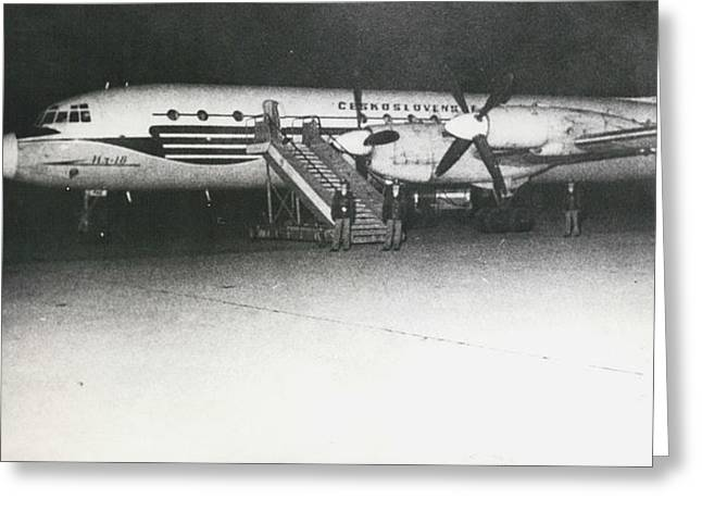 Retro Photography Greeting Cards - Czech Plane With 106 Passengers Was Hijacked At Prague Greeting Card by Retro Images Archive