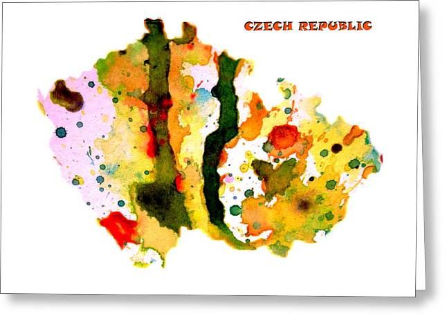 Czech Republic Digital Greeting Cards - Czech Republic Greeting Card by Brian Reaves