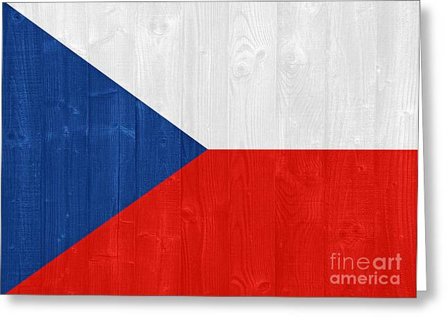 Czech Flag Greeting Cards - Czech Republic flag Greeting Card by Luis Alvarenga
