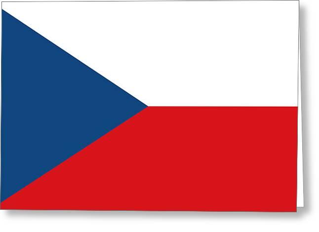 Czech Republik Greeting Cards - Czech Republic National Flag Greeting Card by Tigerlynx Art