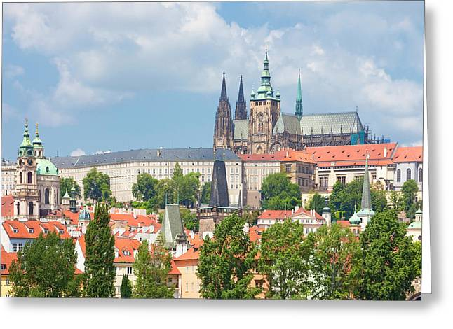 Czech Republic, Prague - St. Nicolas Greeting Card by Panoramic Images