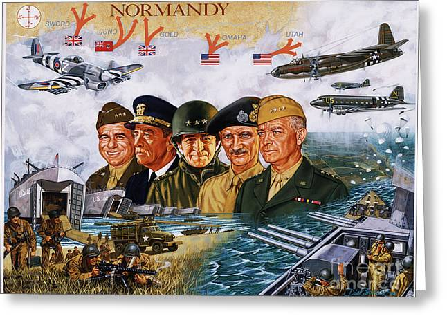 General Bradley Greeting Cards - D Day 6th Of June Greeting Card by Dick Bobnick
