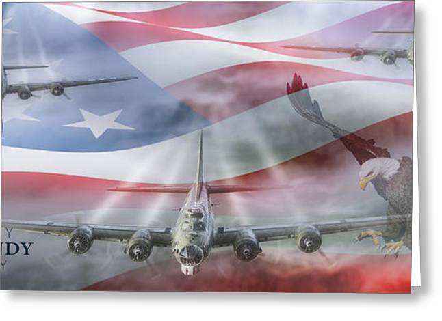 Red White And Blue Digital Greeting Cards - D-Day 70th Anniversary Greeting Card by Peter Chilelli