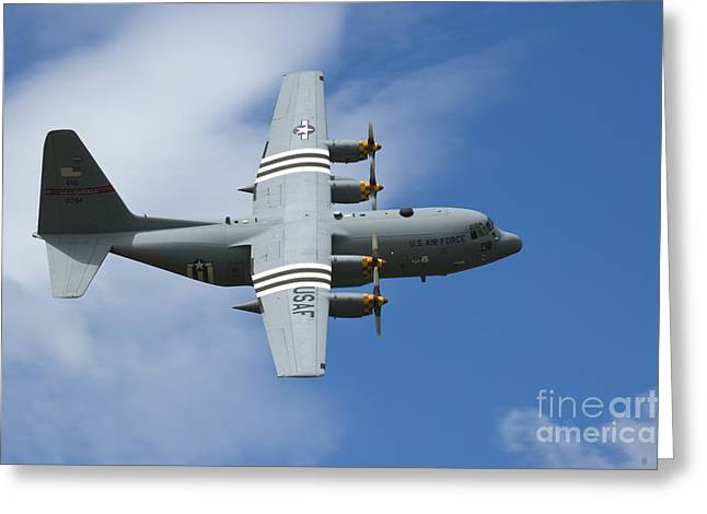Usaf Greeting Cards - D-Day C-130 Greeting Card by Tim Mulina