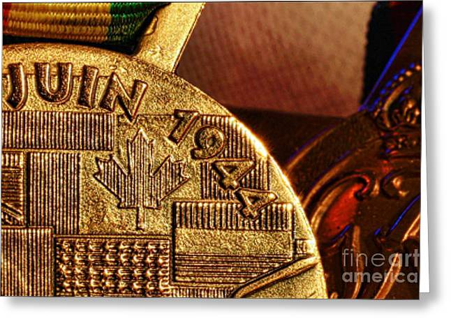 Vfw Greeting Cards - D Day Medal Greeting Card by M and L Creations