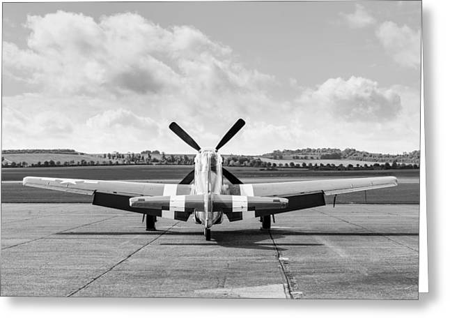Ferocious Frankie Greeting Cards - P-51 Mustang on dispersal Greeting Card by Gary Eason