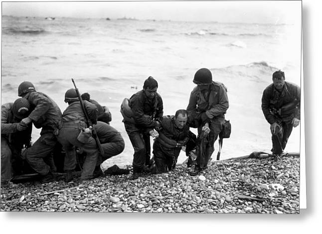 D-day Wounded Greeting Card by Mountain Dreams