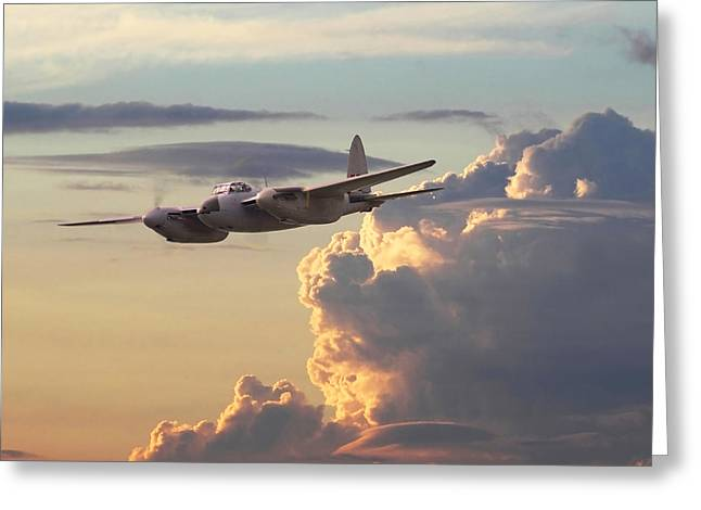 D  H Mosquito - Pathfinder Greeting Card by Pat Speirs
