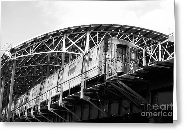 Raised Image Greeting Cards - D-Train Greeting Card by John Rizzuto