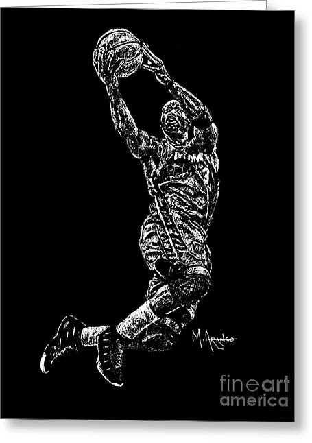 Points Drawings Greeting Cards - D. Wade Greeting Card by Maria Arango