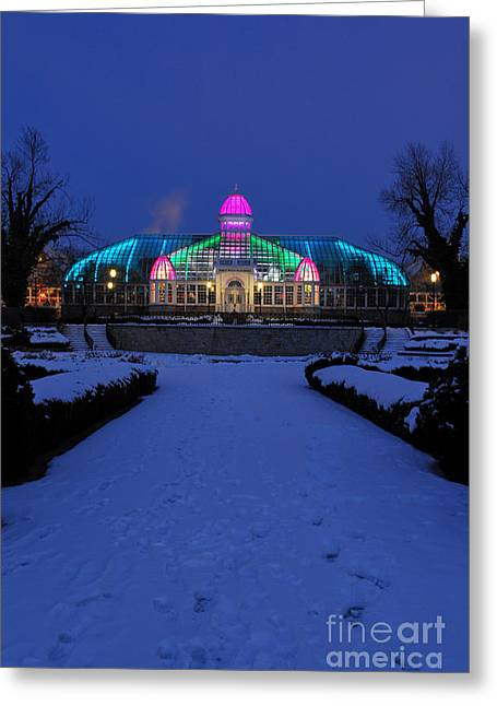 Franklin Greeting Cards - D5L287 Franklin Park Conservatory Greeting Card by Ohio Stock Photography