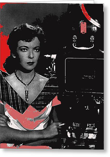 Lupino Greeting Cards - Ida Lupino Behind The Camera As Director Unknown Date Or Film-2008 Greeting Card by David Lee Guss