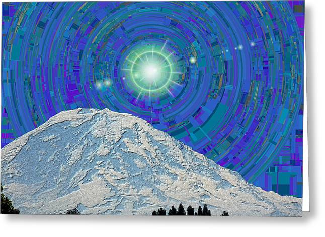 Sun Peaks Greeting Cards - Da Mountain Cubed 2 Greeting Card by Tim Allen