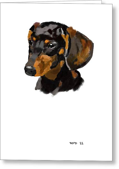 Owner Digital Greeting Cards - Dachshund Greeting Card by Bob Donner