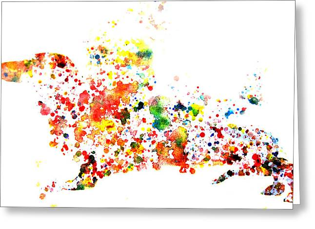 Dachshund Puppy Digital Art Greeting Cards - Dachshund Greeting Card by Brian Reaves