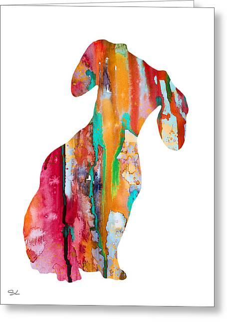 Watercolor! Art Photographs Greeting Cards - Dachshund  Greeting Card by Lyubomir Kanelov