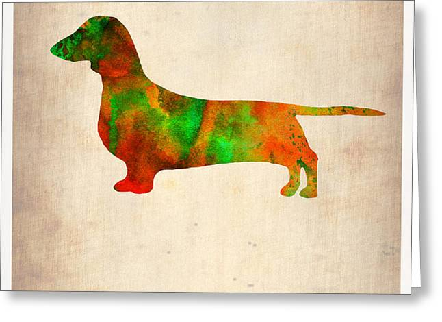 Dachshund Poster 2 Greeting Card by Naxart Studio