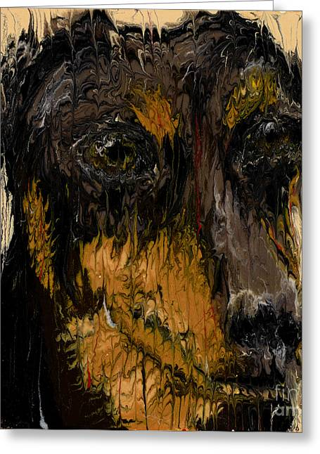 Canine Sculptures Greeting Cards - Dachshund Greeting Card by Scott Lindner