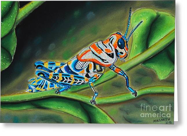 Antenna Pastels Greeting Cards - Dactylotum bicolor Greeting Card by Mik Smith