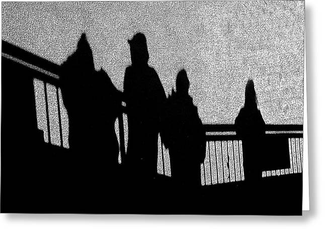 Dad And Three Boys Greeting Card by Tom Gari Gallery-Three-Photography