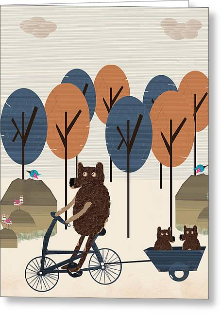 Tress Prints Greeting Cards - Daddy Bear Care Greeting Card by Bri Buckley