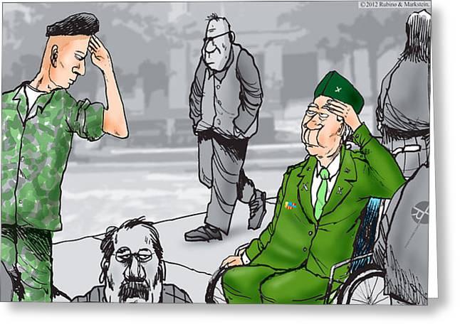 Patriot Art Prints Greeting Cards - Daddys Home Military Veterans Greeting Card by Tony Rubino