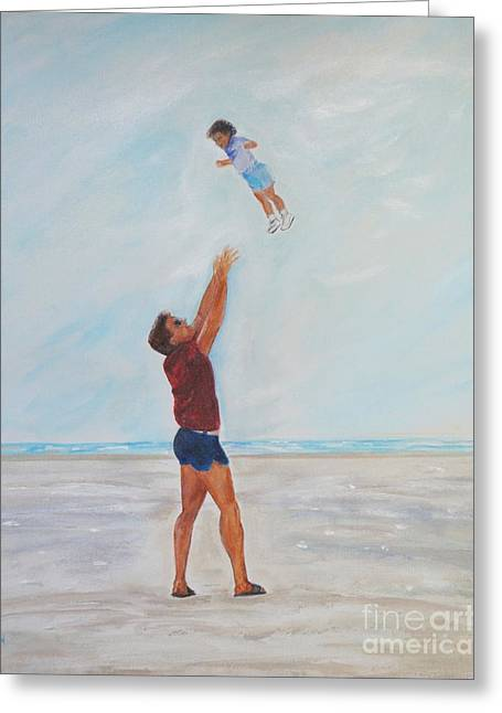 Daughter Gift Greeting Cards - Daddys Little Girl Greeting Card by Leslie Allen