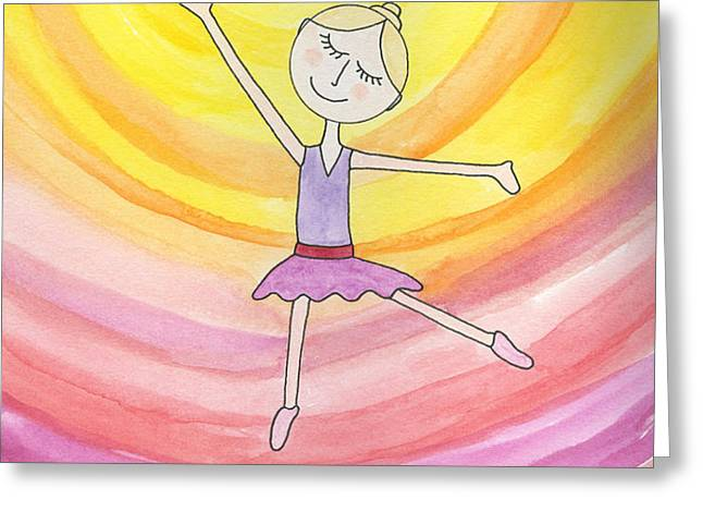 Daddy's Perfect Dancer Greeting Card by Jerry Patterson