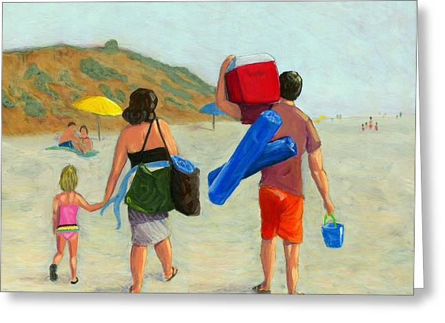 California Art Greeting Cards - Dads Day Off Greeting Card by Karyn Robinson