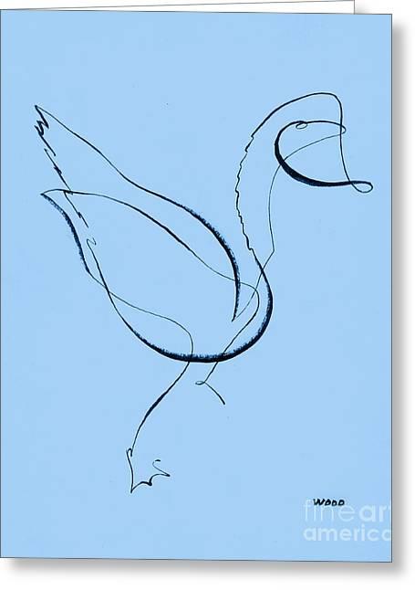 Dad's Duck By George Wood Greeting Card by Karen Adams