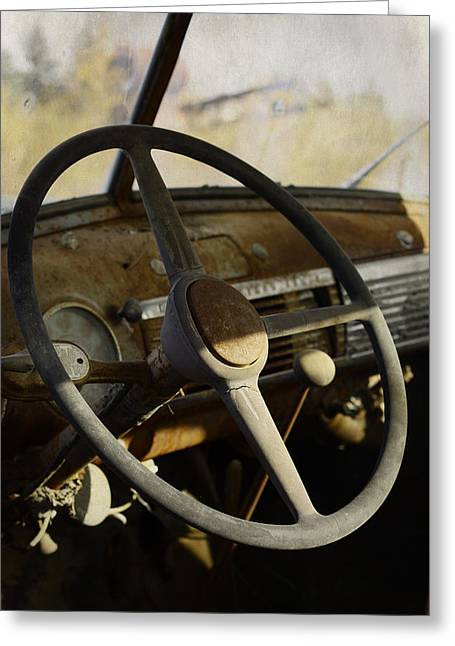 Dash-board Greeting Cards - Dads Old Truck Greeting Card by Jerry Cordeiro