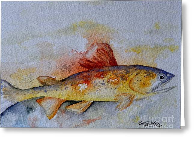 Rainbow Trout Greeting Cards - Dads Trout Greeting Card by Sally Rice