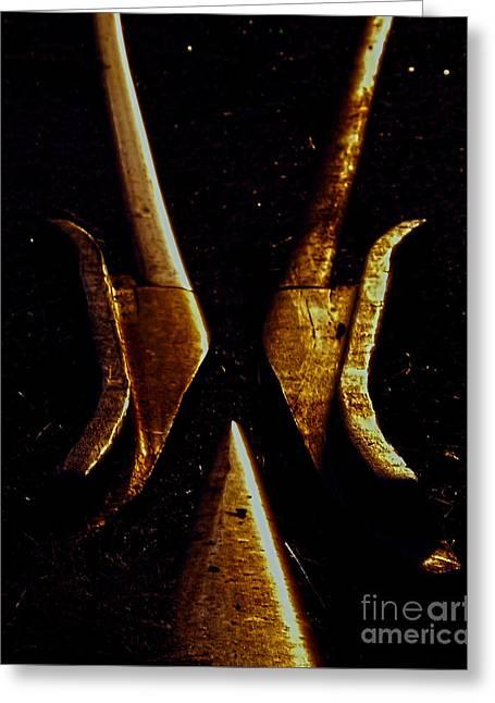 Baal Greeting Cards - Daemonic Visage Greeting Card by James Aiken