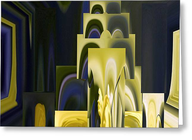 Creative Manipulation Photographs Greeting Cards - Daffodil Abstract Greeting Card by Pat Exum