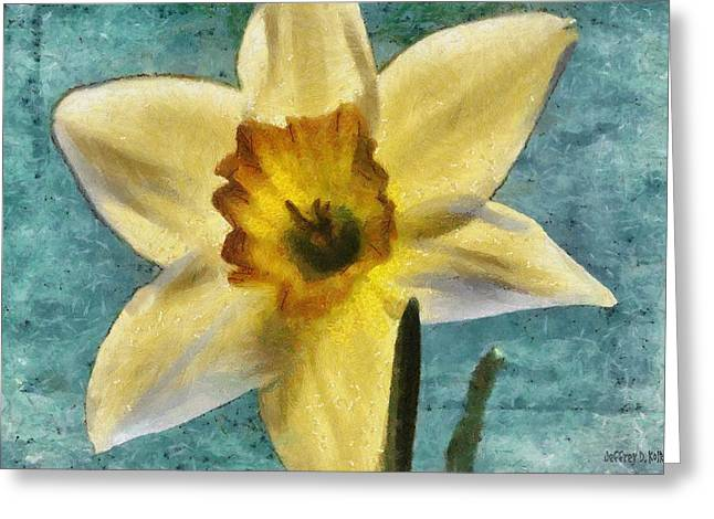 Daffodils Greeting Cards - Daffodil Greeting Card by Jeff Kolker