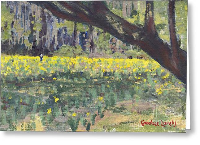 Head Stand Paintings Greeting Cards - Daffodil Tree Greeting Card by Candace Lovely