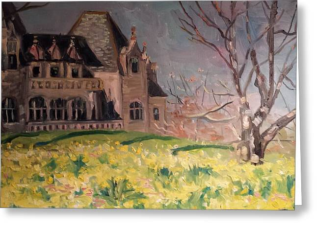 Salve Greeting Cards - Daffodils at Ochre Court Greeting Card by Rosemary Kavanagh