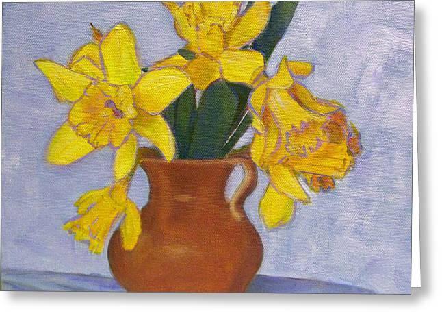 Robie Benve Greeting Cards - Daffodils Greeting Card by Robie Benve