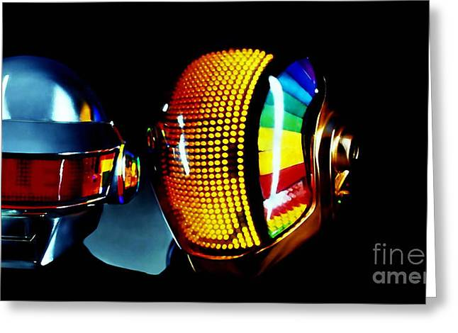 Daft Punk  Greeting Card by Marvin Blaine