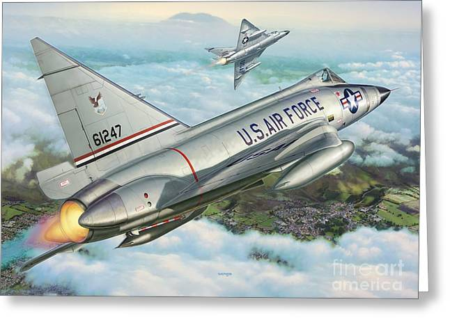 Interceptor Greeting Cards - Daggers of Defense Greeting Card by Stu Shepherd