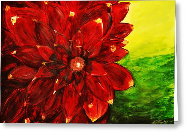 Amy's Dahlia  Greeting Card by Chastity Hoff
